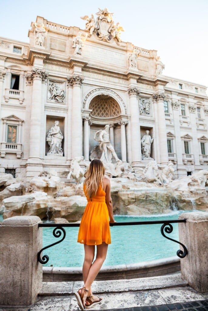 Trevi Fountain with girl
