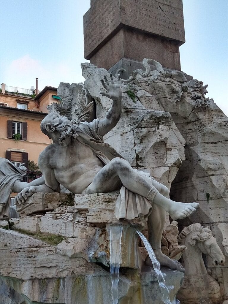 Baroque Art Masters Fountain of the Four Rivers Bernini