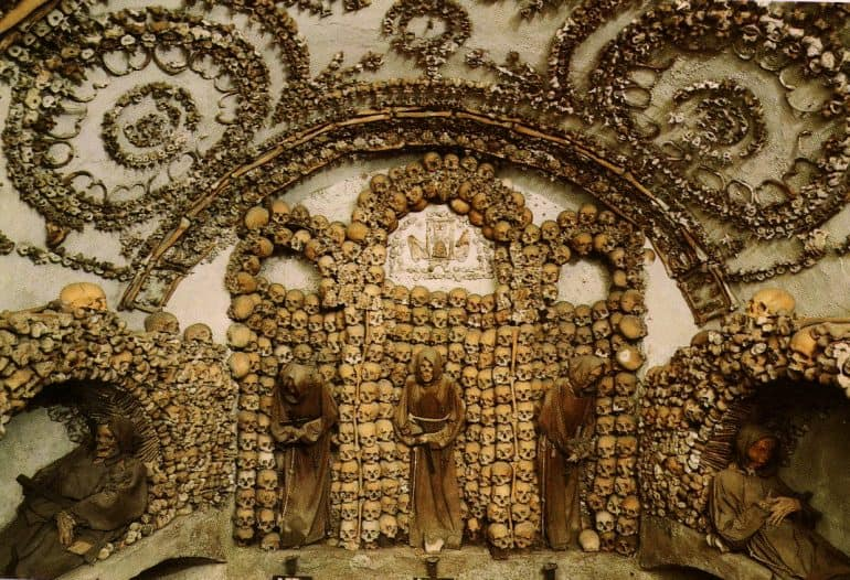 Catacombs and Crypts - Capuchin Crypts bone chapel