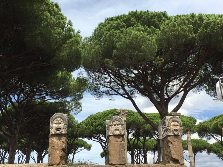 Ostia Antica - Port of Ancient Rome - pillars with faces