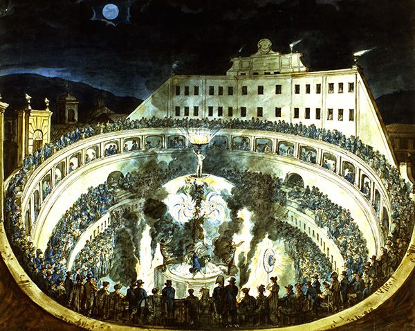 drawing of a theater in Rome