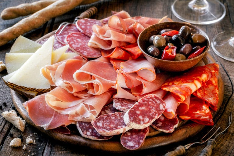 Meat and Cheese antipasti