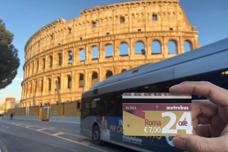 Bus ticket for Rome's public transport
