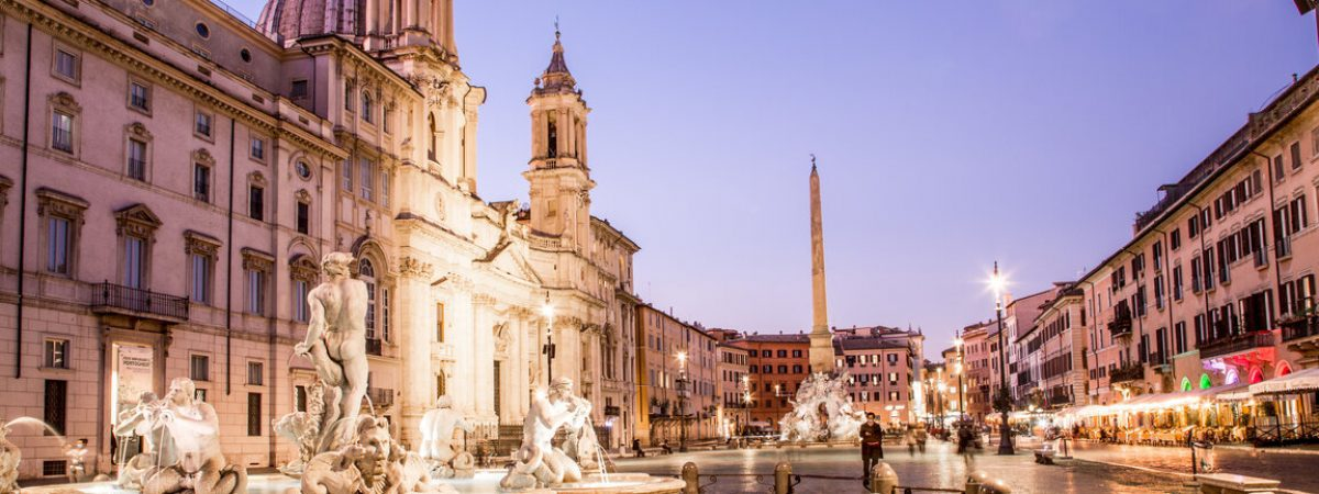 Rome City Center - Piazza Navona at night